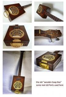 "Cigarbox Gitarre ""old soap Box"""